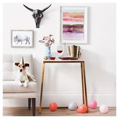 Marble & Gold Rectangular Console Table - Threshold™ : Target