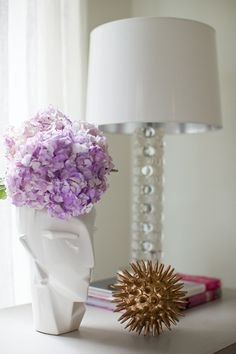 #gold #hydrangeas #purple #white