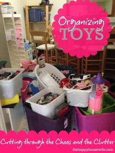 4 tried & true tips for Organizing Toys | The Happy Housewife