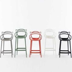 Color range in Bar and Counter heights. Kartell Masters stools would be awesome. But $500 each. Just pinning because I can't not. :)