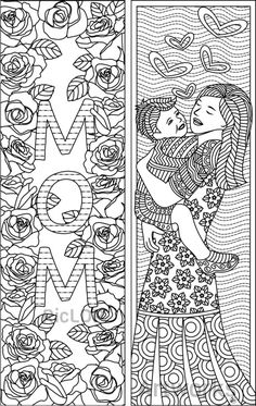 Set of 8 Coloring Bookmarks for Mom - Gift Bookmarks on Mother's Day - Gift Markers for Mommy. Colouring Pages, Coloring Pages For Kids, Coloring Books, Coloring Sheets, Mothers Day Crafts For Kids, Fathers Day Crafts, Gifts For Mom, Fathers Day Coloring Page, Mother's Day Colors