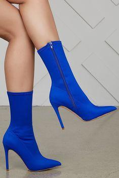 d07a26dec Maybel Booties (Royal Blue). Royal Blue High HeelsBlue StilettosBootie HeelsHeeled  BootsStrappy HeelsThigh ...