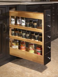 Pull-out Spice Rack   DeWils Fine Cabinetry