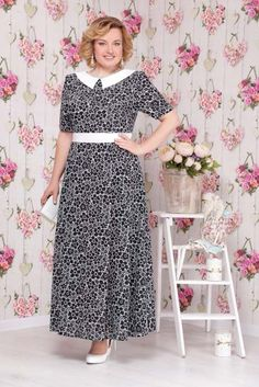 Modest Dresses, Girls Dresses, Big Size Fashion, Big Size Dress, Girl Dress Patterns, Mothers Dresses, African Print Fashion, Collar Dress, African Dress