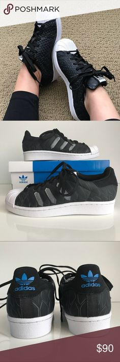 Adidas Superstar CTXM J, size 35.5 Adidas Superstar CTXM J, women's size 5.5. Brand new in box. Synthetic textured upper, white round toe cap, padded tongue with adidas trefoil, blue adidas trefoil on back, Ortholite inner sole for comfort and white rubber sole. adidas Shoes Sneakers