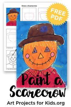 Here's a fun way to draw a scarecrow, and it's easy enough for even most kinders. I highly recommend printing or drawing the light center guide lines though, before you start. They … Read More
