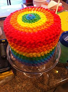 The prettiest rainbow cake.