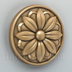3D model for CNC routers and 3D printers (art. Round rosette 002)