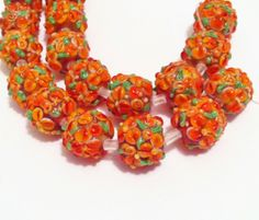 * Sunset Bouquet Handcrafted Lampwork Beads. Starting at $5 on Tophatter.com!