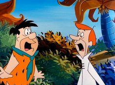 ...insólito encontro entre Flintstones e Jetsons...