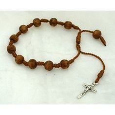 Great for boys too! Brown Cord Rosary Bracelet, $4.95 #CatholicCompany