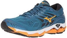 the latest 045b6 085b4 Mizuno Wave Horizon 2 Men s Running Shoes, Blue Sapphire Bright  Marigold Black,