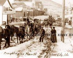 idaho silver mines | 1890's Main Street St Silver City Idaho ID Gold Mine Miners Freight ...