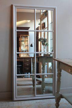 Wooden Window Mirror | discoverattic