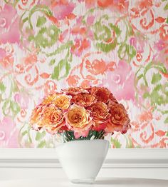 Interior Design Trend, Painterly Florals | Waterford Floral Wallpaper by Thibaut | Jane Clayton
