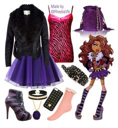 """""""Clawdeen Wolf 2 (Monster High)"""" by rheebavn ❤ liked on Polyvore"""