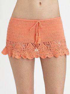 Anna Kosturova Swim Salsa Crochet Skirt ~  #SaksLLTrip