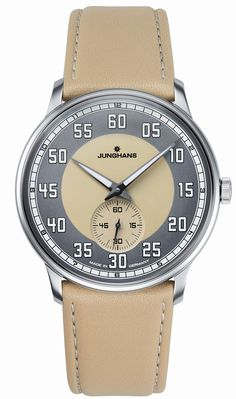 Junghans Meister Driver Handwound Sand Colored Dial 027/3607.00