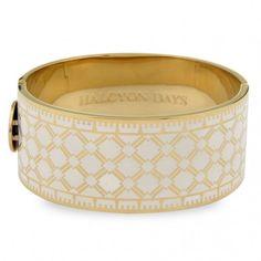 Kollektion: Herlequin ⦁ Produktart: Armreif ⦁  Material: Messing, vergoldet mit 750/- Gelbgold ⦁ Breite: 2,7 cm ⦁ Referenz: 203/DH002