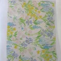 1960's vintage fabric fat quarter faded spring garden by sosovintage