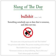 #bullshit #slang #ELT #voc