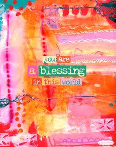 You are a blessing! www.suitablegifts.com #quotes #inspiration #motivation #meditation #yoga #spirituality #gratitude