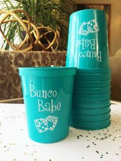 Bunco Party Cups Bunco Gift Bunco Babe Bunco Cup by RoostPaperie