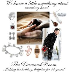 """Holidays at The Diamond Room"" by the-diamond-room on Polyvore"