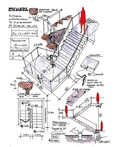 Sketch Up Architecture, Concept Board Architecture, Landscape Architecture Drawing, Stairs Architecture, Architecture Details, Civil Engineering Design, Architectural Engineering, Architect Sketchbook, Construction Drawings