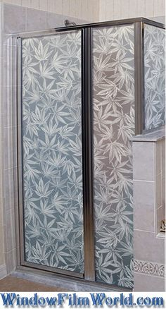 Amsterdam (pot leaf, marijuana leaf, cannabis leaf) Privacy Window Film Covering - also available in See Through Version from WindowFilmWorld.com
