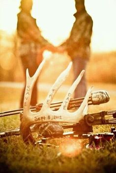 fishing and hunting themed wedding ideas | Hunting theme save the date.