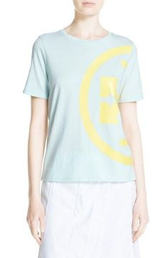 TORY BURCH 'Libby' Cotton Logo Tee. #toryburch #cloth #