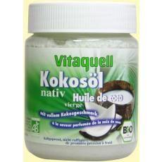 Ulei Bio Extravirgin de Nuca de Cocos Vitaquell 100% ulei nativ nerafinat, certificat organic din nucă de cocos.Compozitia NON-ANIMALA recomanda produsul si pentru regimurile vegetariene, vegane sau post. Trateaza Alzheimer.