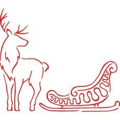 Minimal Image Of A Reindeer And Sleigh