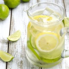 Lemon And Lime   12 Fruit Infused Water Recipes To Keep You Glowing   How To Lose Weight And Get Healthy - Easy Detox Recipes To Get You Back On Track by Homemade Recipes at  http://homemaderecipes.com/healthy/12-fruit-infused-water-recipes/