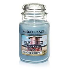Beach Holiday™ : Large Jar Candles : Yankee Candle from The Yankee Candle Company. Saved to Yankee candle. Glade Candles, Scented Candles, Candle Jars, Yankee Candles, Candle Holders, Candle Accessories, Holiday Candles, Unique Candles, Perfume