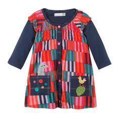 Robe Tee-Shirt Imprimé fond rouge Catimini