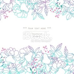 Floral decor Royalty Free Stock Vector Art Illustration