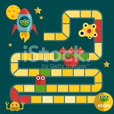 Monsters board game with aliens and creatures royalty-free stock vector art