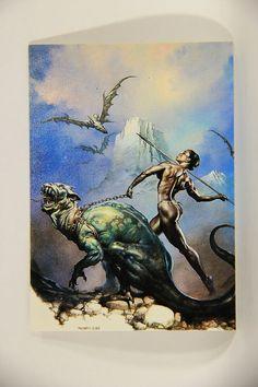 L011017 Boris Vallejo 1992 Card / Javelin - 1985 - Card #20 / ARTWORK