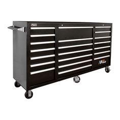 Homak H2PRO 72in., 21-Drawer Rolling Tool Cabinet — 72 1/8in.W x 22 7/8in.D x 46 3/4in.H, Model# BK04021720