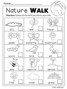 FREE Earth Day Printables - Nature Walk Scavenger Hunt have one partner cross off and other partner take pictures with iPad Earth Day Activities, Nature Activities, Science Activities, Earth Day Worksheets, Science Lessons, Spring Activities, Summer School Activities, Human Body Activities, Movement Activities