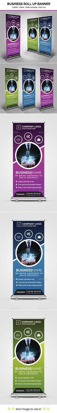 Business Roll Up Banner Template #design Download: http://graphicriver.net/item/business-roll-up-banner-v10/11531891?ref=ksioks