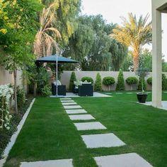 Saheel Villa: Garden Shed by Hortus Landscaping Works LLC backyard landscaping landscaping garden landscaping Backyard Patio Designs, Small Backyard Landscaping, Modern Landscaping, Landscaping Ideas, Backyard Seating, Modern Garden Design, House Garden Design, Small Garden Landscape Design, Urban Landscape