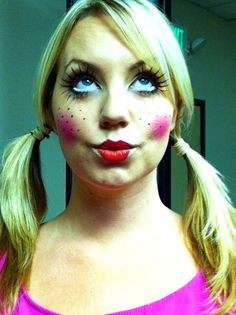halloween doll Makeup - look using their Spyder Woman Lashes #halloween #makeup