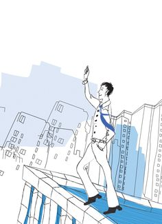 'YOU 화법으로 시작하라' 본문에 삽입된 삽화(옥상에서)