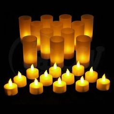 Rechargeable Tea Light Candles LED Tea Lights Rechargeable Candles Tealights   eBay