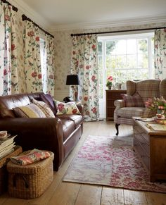 Cranberry Fabric - Elveden | Classic Bold Floral Fabric