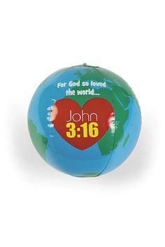 Fun Express, Vinyl Inflatable God Loves the World Globe   Rewards & Incentives   Christian Education   Education   Mardel