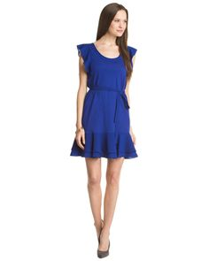 """French Connection """"Polly Plains"""" Royal Blue Dress"""